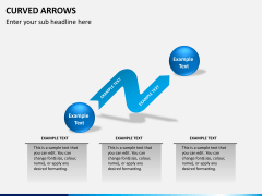 Curved arrows PPT slide 9