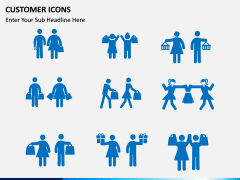 Customer Icons PPT slide 1