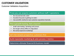 Customer Validation PPT slide 15