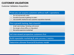 Customer Validation PPT slide 5