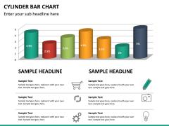 Cylinder bar chart PPT slide 12