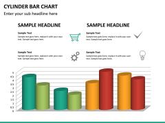 Cylinder bar chart PPT slide 22