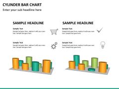 Cylinder bar chart PPT slide 15