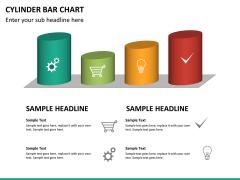 Cylinder bar chart PPT slide 16