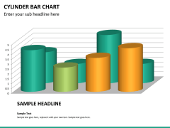 Cylinder bar chart PPT slide 17
