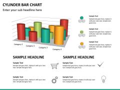 Cylinder bar chart PPT slide 18