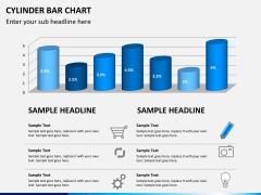 Cylinder bar chart PPT slide 1