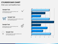 Cylinder bar chart PPT slide 10