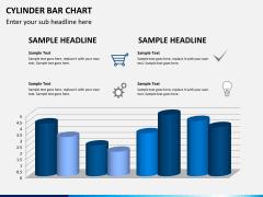 Cylinder bar chart PPT slide 11