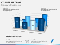 Cylinder bar chart PPT slide 2