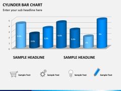 Cylinder bar chart PPT slide 3