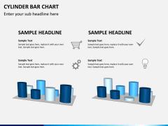 Cylinder bar chart PPT slide 4