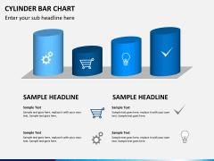Cylinder bar chart PPT slide 5