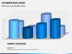 Cylinder bar chart PPT slide 6