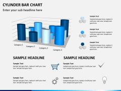 Cylinder bar chart PPT slide 7