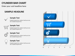 Cylinder bar chart PPT slide 9