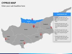 Cyprus map PPT slide 11