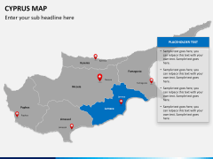 Cyprus map PPT slide 12