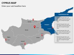 Cyprus map PPT slide 13