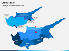 Cyprus map PPT slide 2