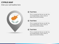 Cyprus map PPT slide 20