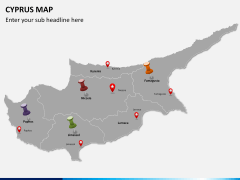 Cyprus map PPT slide 4