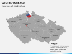 Czech republic map PPT slide 15