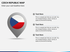 Czech republic map PPT slide 17