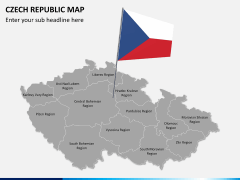 Czech republic map PPT slide 3
