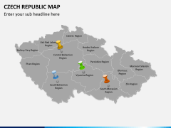 Czech republic map PPT slide 4