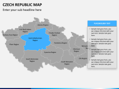 Czech republic map PPT slide 9