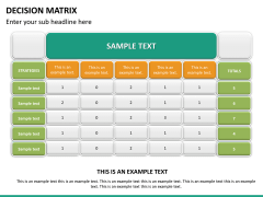 Decision matrix PPT slide 12