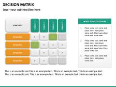 Decision matrix PPT slide 14