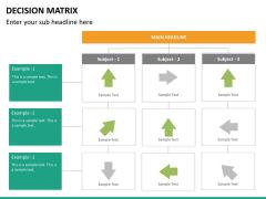 Decision matrix PPT slide 15