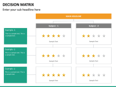 Decision matrix PPT slide 16