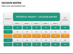 Decision matrix PPT slide 17