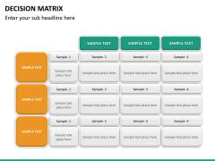 Decision matrix PPT slide 18