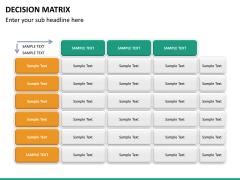 Decision matrix PPT slide 20