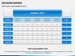 Decision matrix PPT slide 1