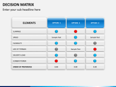 Decision matrix PPT slide 10