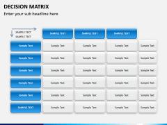 Decision matrix PPT slide 9
