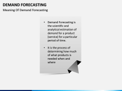 Demand forecasting PPT slide 1