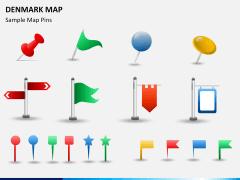 Denmark map PPT slide 24