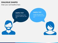 Dialogue shapes PPT slide 1