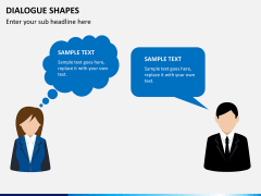 Dialogue shapes PPT slide 2