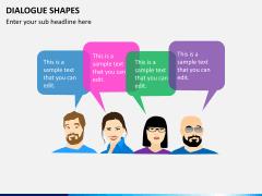 Dialogue shapes PPT slide 3