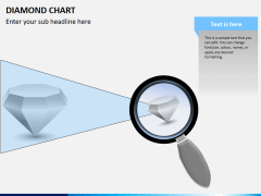 Diamond chart PPT slide 2