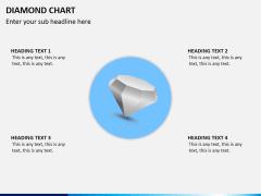 Diamond chart PPT slide 3