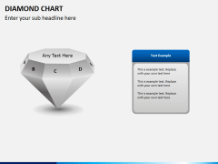 Diamond chart PPT slide 4