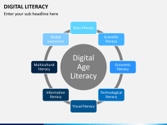 Digital literacy PPT slide 1